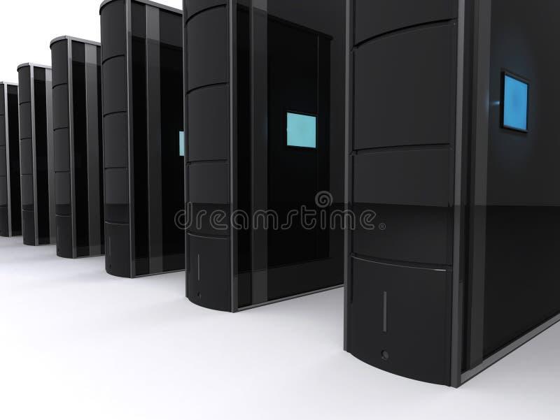 Servers. Some sertver stations vector illustration