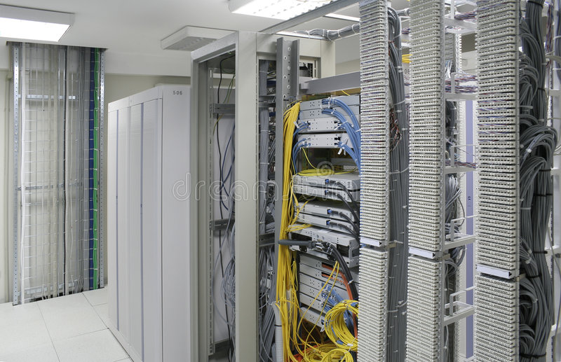 Download Servers center stock image. Image of indoors, cable, center - 1671949