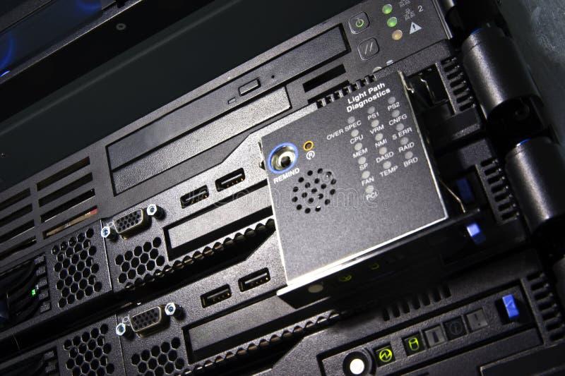 Servers close-up stock photo