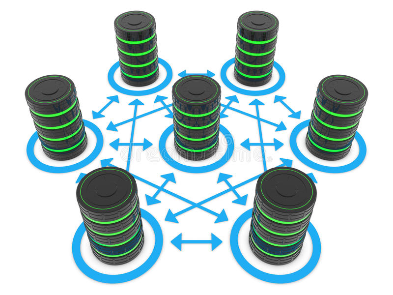Download Servers and connections stock illustration. Illustration of mainframe - 26227578