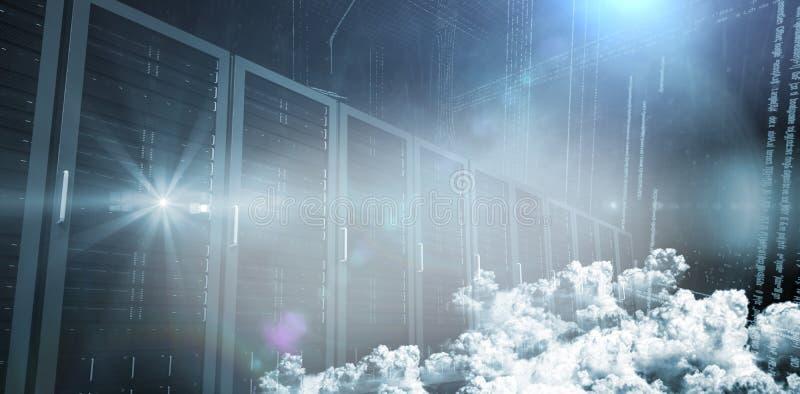 Servers in de wolken vector illustratie