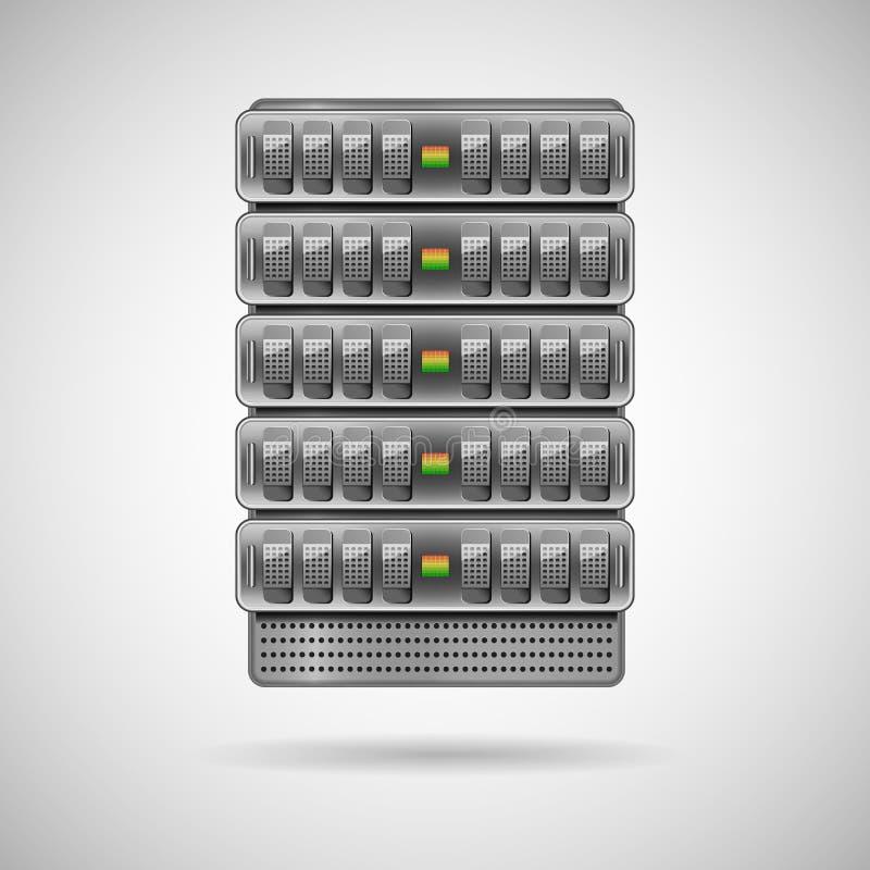 Servers die in rek worden geïnstalleerd royalty-vrije illustratie