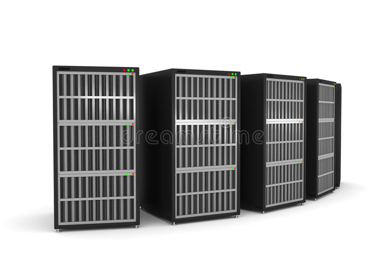 Download Servers rack stock illustration. Image of business, connection - 36195413