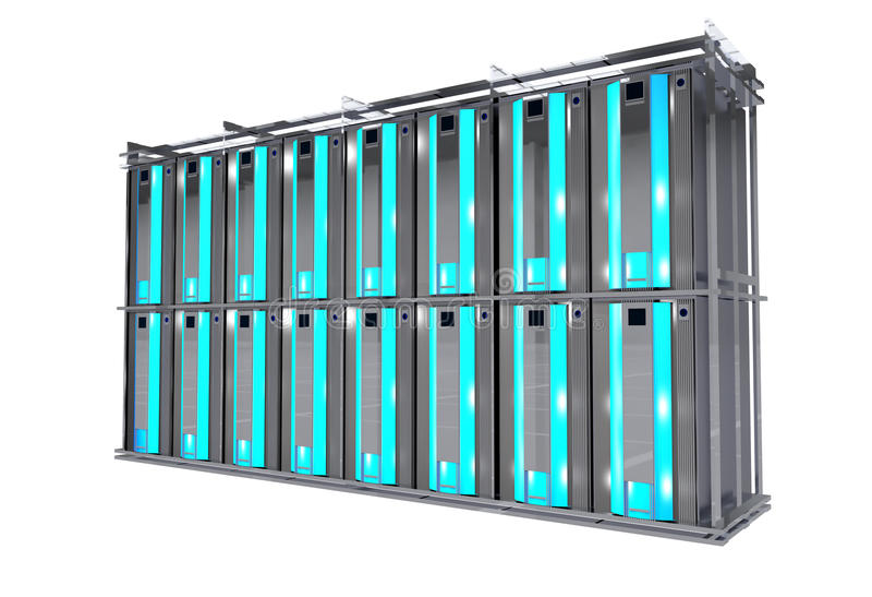 Servers Rack Isolated stock illustration