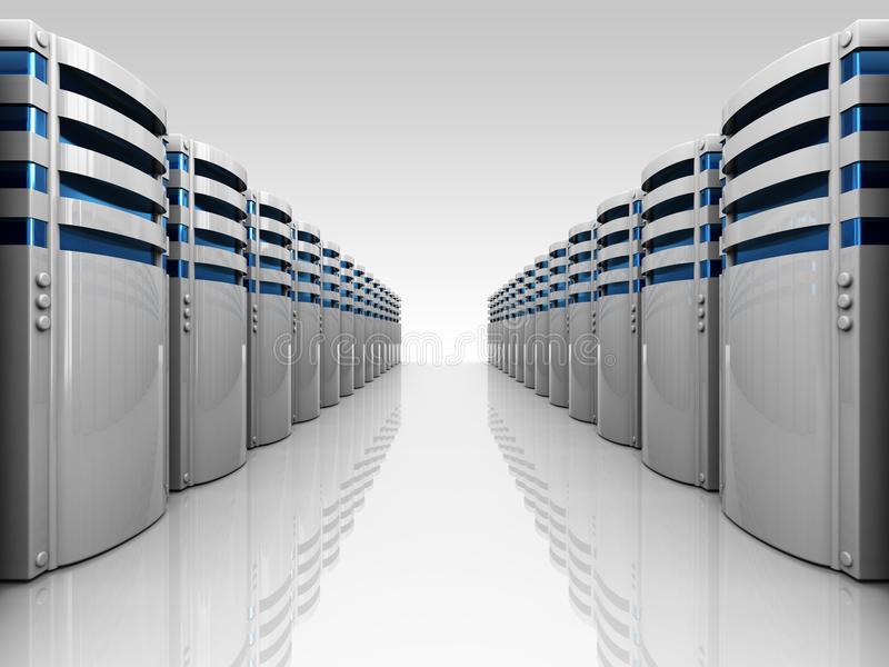 Download Servers row stock illustration. Image of powerful, point - 13239991