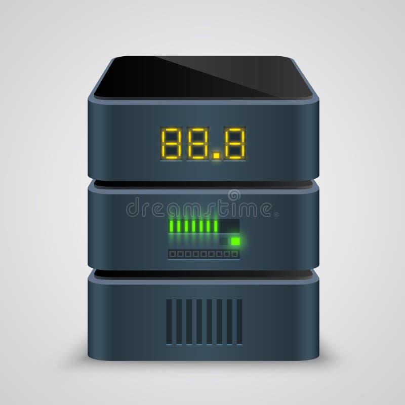 Serversymbol vektor stock illustrationer