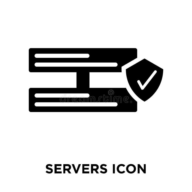 Serversymbolsvektor som isoleras på vit bakgrund, logobegreppsnolla stock illustrationer