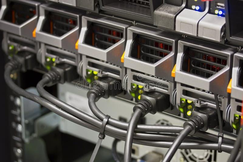 Servervoedingen stock afbeelding