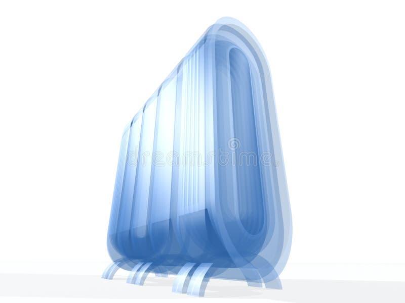 Serveur avec la glace bleue illustration de vecteur