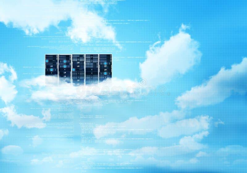 Serveur de nuage d'Internet image libre de droits