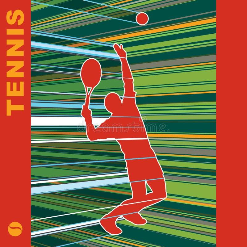 Serveur De Tennis Image stock