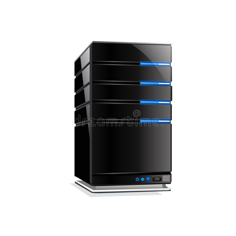 serveur frais d'ordinateur de vecteur illustration stock
