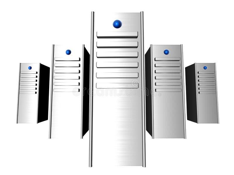 serveurs 3D illustration de vecteur