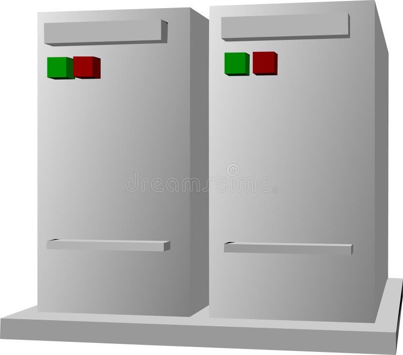 Serveurs d'ordinateur illustration stock