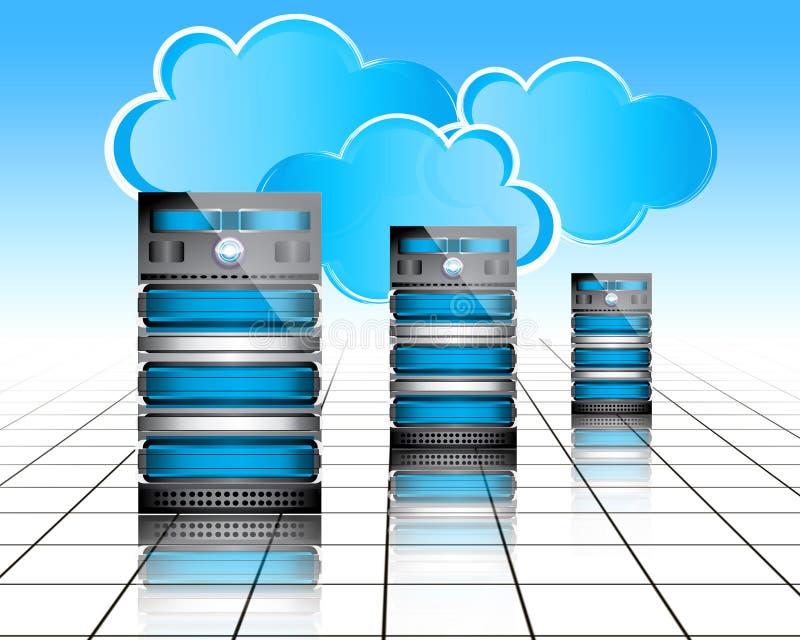 Serveurs de Datacenter illustration libre de droits
