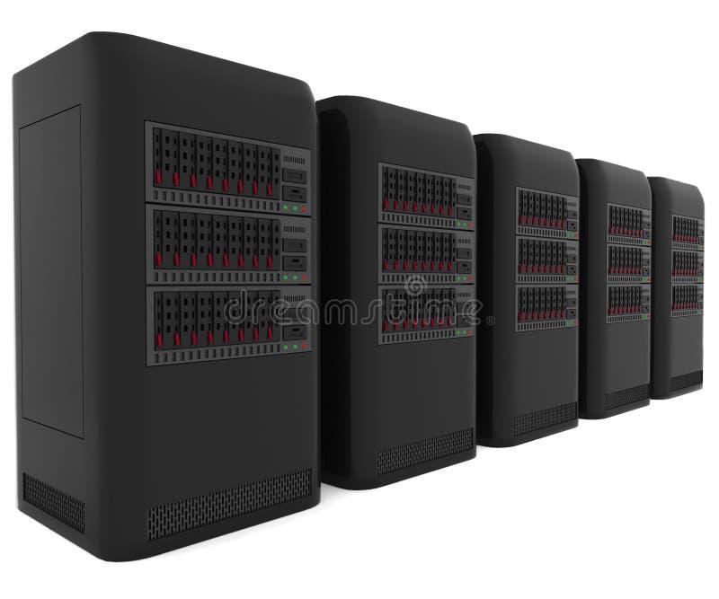 serveurs de l'ordinateur 3d illustration de vecteur