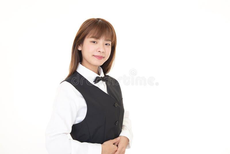 Serveuse asiatique de sourire photo libre de droits