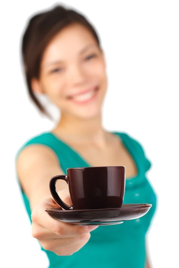 Download Serveuse De Portion De Café Photo stock - Image du eurasien, boisson: 8656234