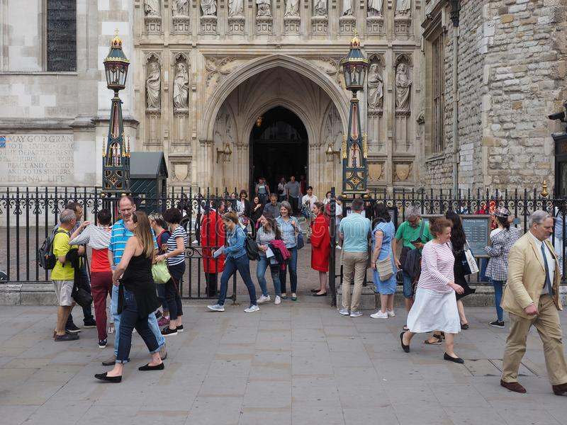 Serviço coral de Westminster Abbey Evensong em Londres foto de stock