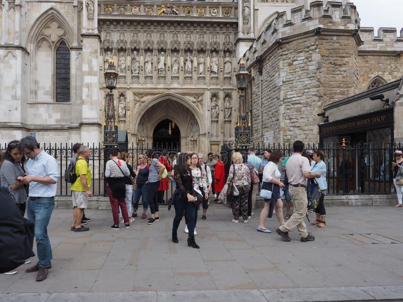Serviço coral de Westminster Abbey Evensong em Londres fotografia de stock