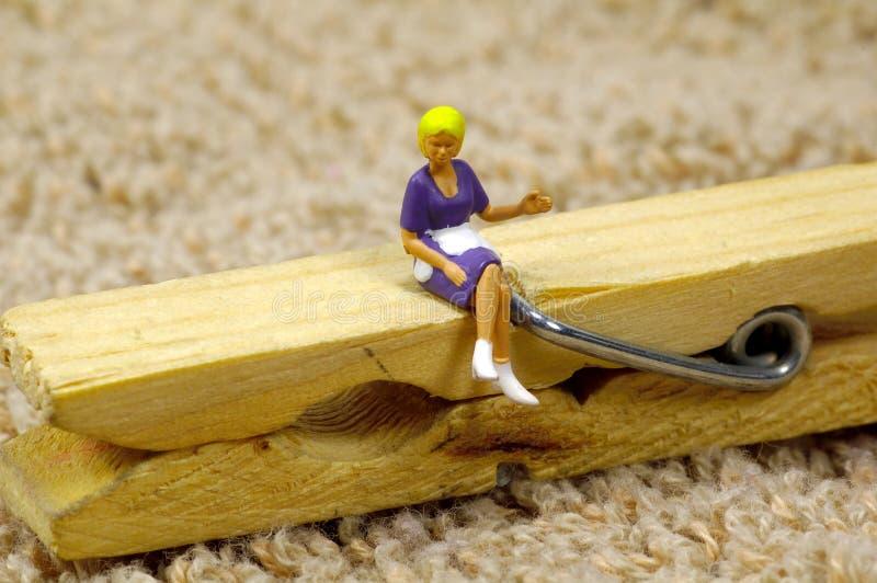 Download Serviço Da Empregada Doméstica Imagem de Stock - Imagem de povos, clothespin: 102673