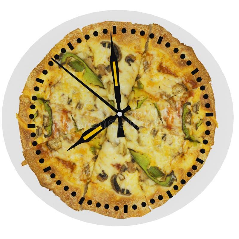 Serviço da hora 24h da horas da entrega da pizza foto de stock royalty free