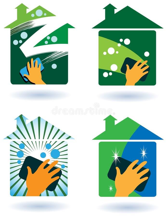 Serviço da limpeza da casa ilustração stock