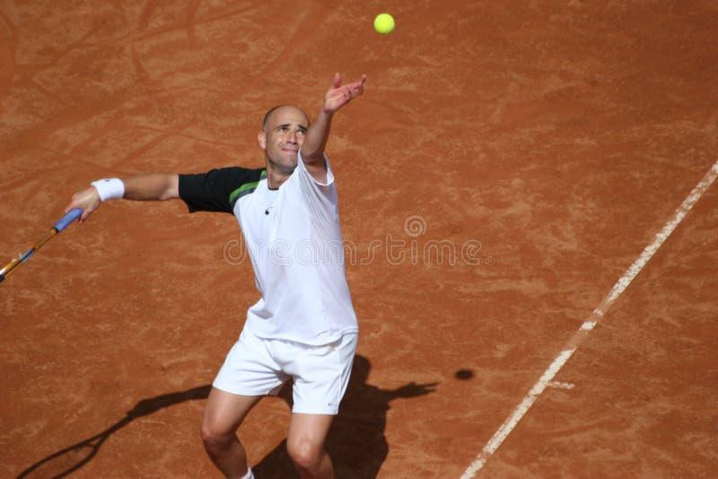 Serviço de Andre Agassi imagens de stock