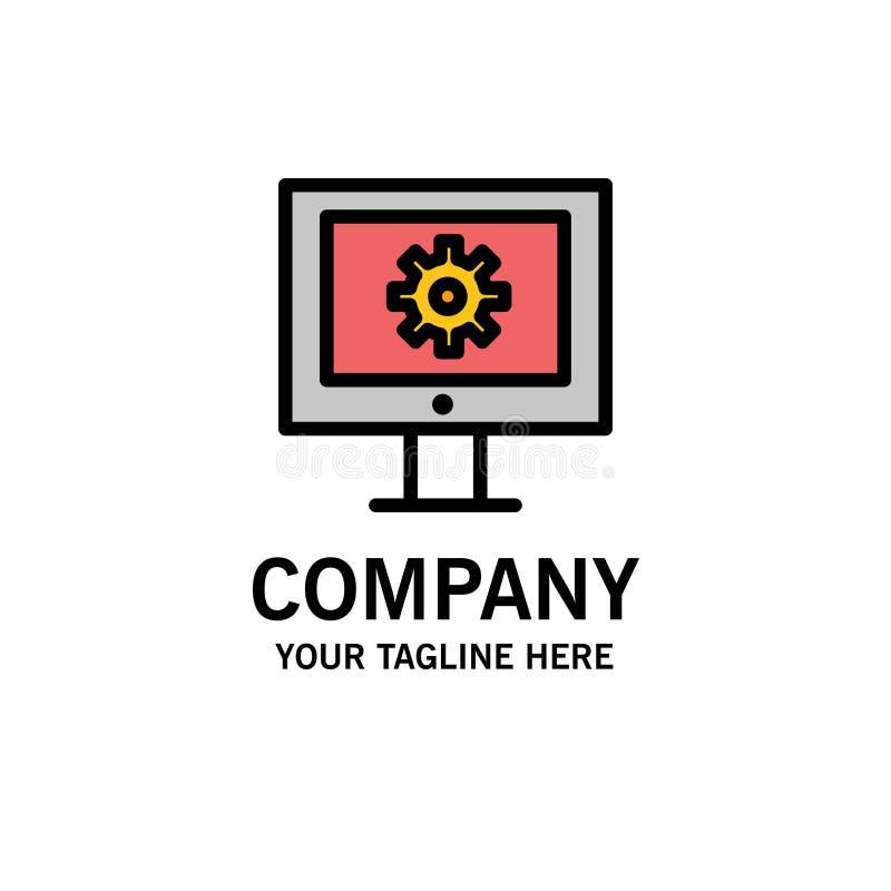 Serviço de assistência em linha, assistência técnica, suporte laboral, negócio Logo Template da manutenção da Web cor lisa ilustração royalty free