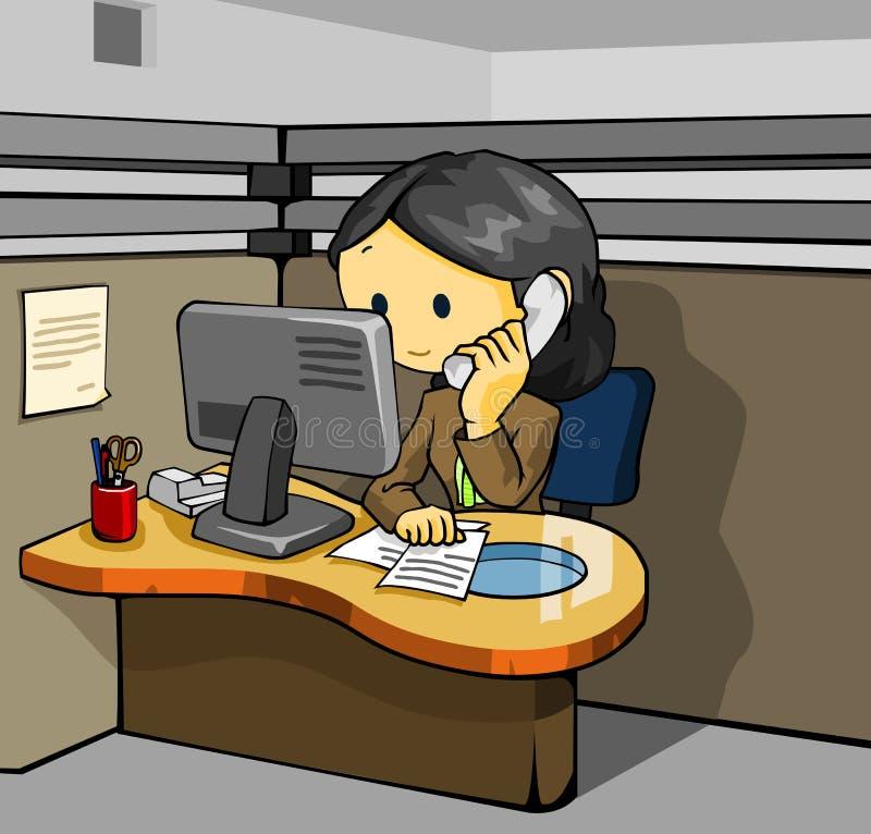 Serviço de atenção a o cliente ilustração do vetor