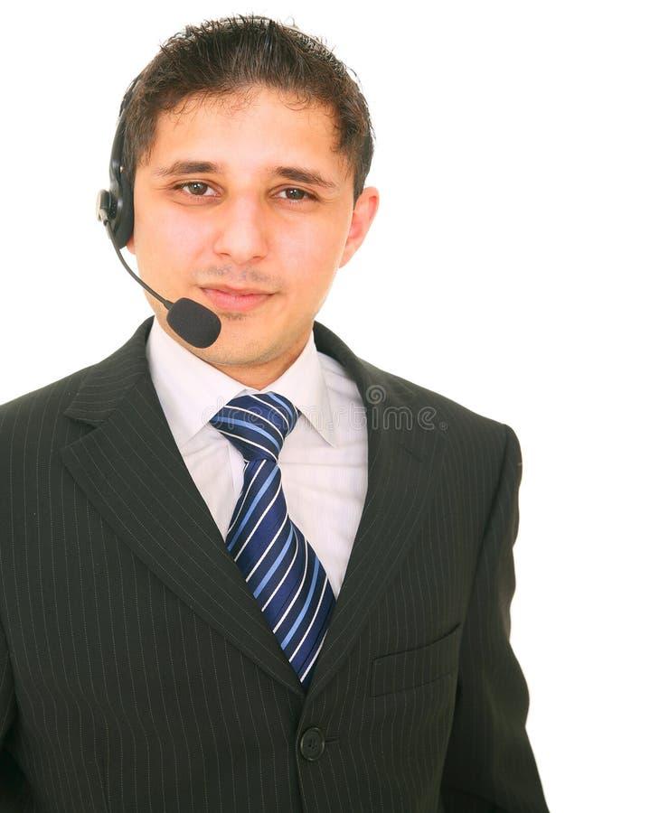 Serviço de atenção a o cliente amigável foto de stock