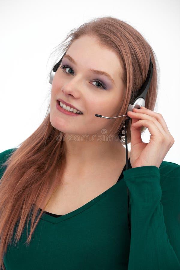 Serviço de atenção a o cliente com sorriso foto de stock