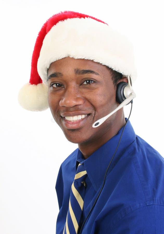 Serviço de atenção a o cliente do Natal imagens de stock