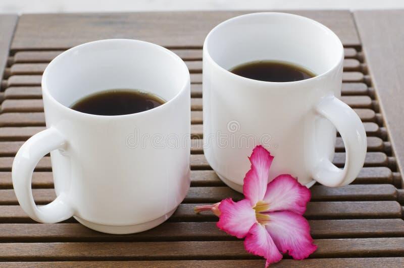 Serviço de café para dois imagens de stock