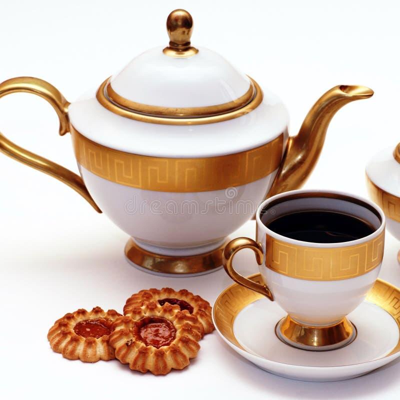 Serviço de chá elegante fotos de stock