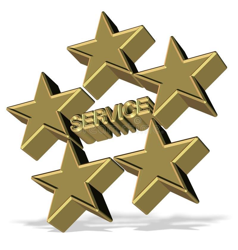 Serviço de cinco estrelas ilustração royalty free