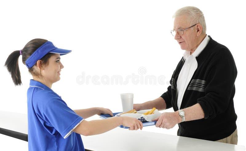 Serviço de fast food imagem de stock royalty free