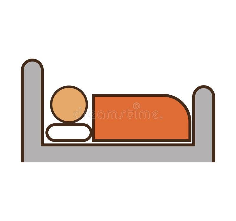 Serviço de hotel do sono da pessoa ilustração stock