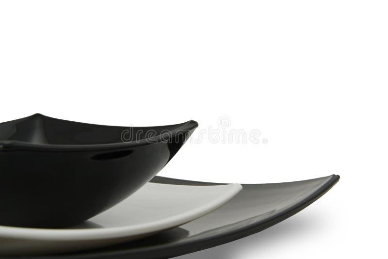Serviço de jantar de China. fotos de stock royalty free