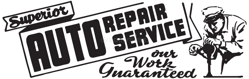 Serviço de reparação de automóveis superior ilustração do vetor