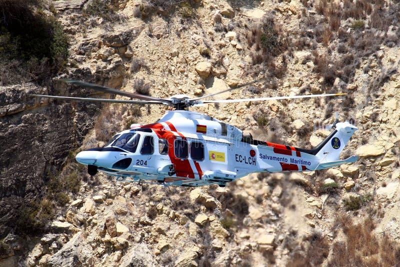 Serviço de salvamento aéreo do gobernement espanhol foto de stock royalty free