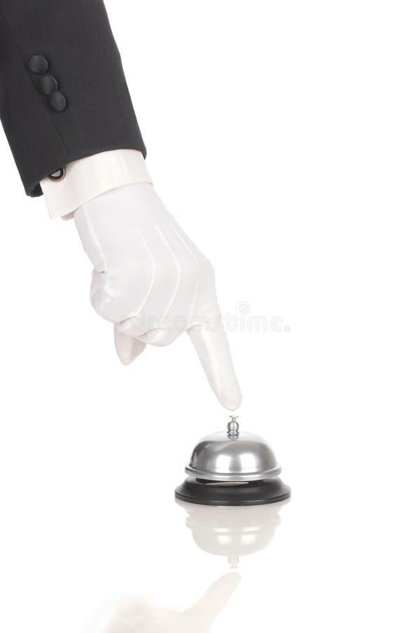 Serviço de soada Bell do mordomo imagens de stock
