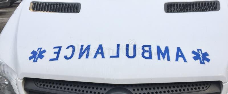 Serviço de transporte de Ambulane imagem de stock
