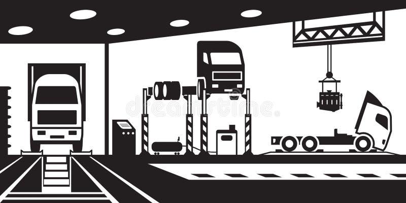 Serviço do caminhão e manutenção - ilustração do vetor ilustração royalty free