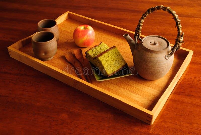 Serviço do chá imagem de stock