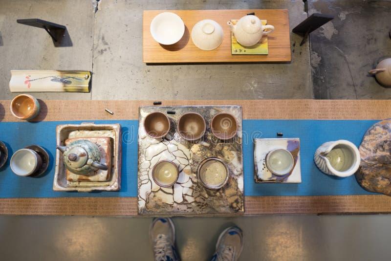Serviço do chá em China fotografia de stock
