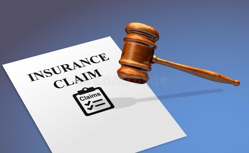 Serviço do crédito de seguro com um martelo legal foto de stock