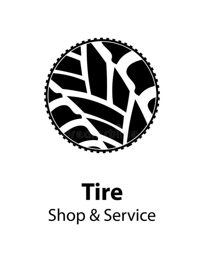 Serviço do pneu ilustração stock