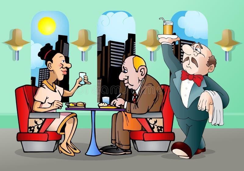 Serviço do restaurante ilustração do vetor