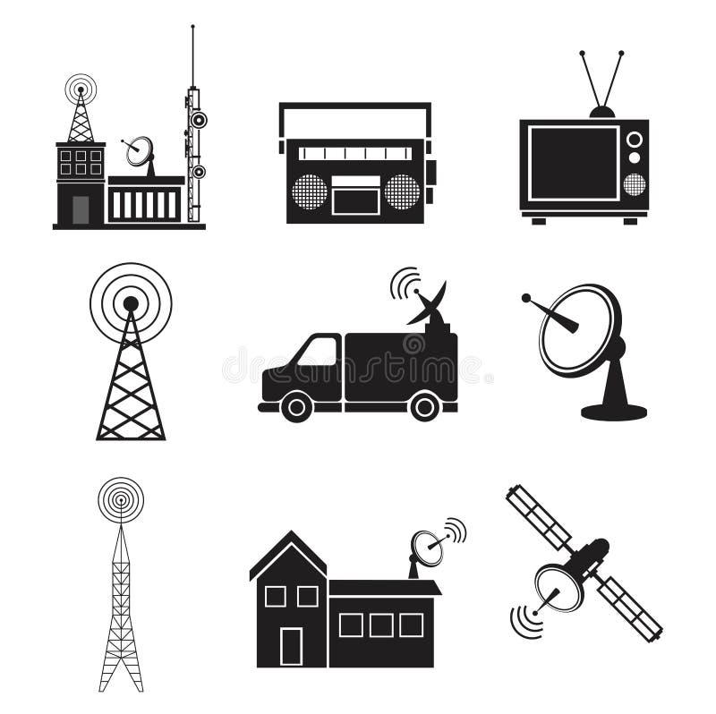 Serviço do transmissor da informação de uma comunicação da coleção ilustração do vetor